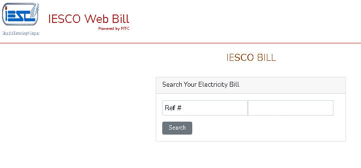iesco bill enter reference number